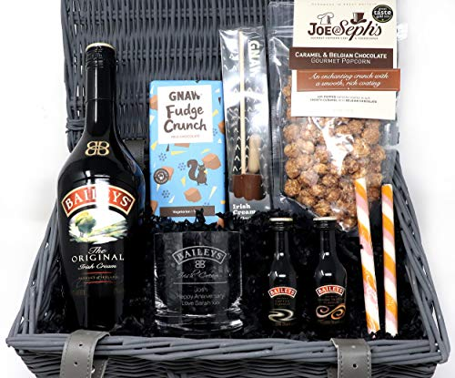 Personalised Premium Baileys Gift Hamper with Engraved Glass