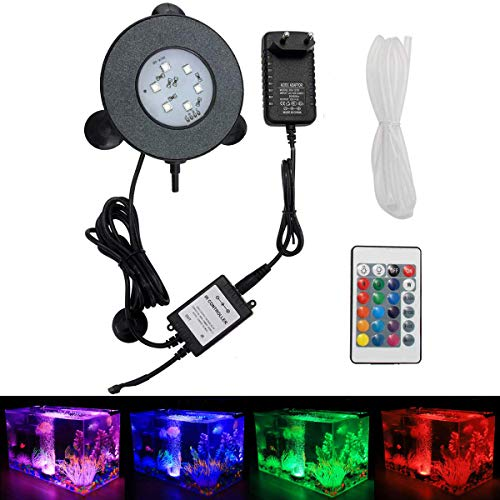 GreenSun LED Lighting Éclairage d'aquarium Spot Light 3W 6 LEDs Spot Lumière sous l'eau IP65 étanche 24 touches Télécommande Lumière Aquarium