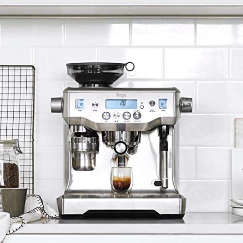 Sage Appliances SES980 Espresso-Maschine The Oracle, Gebürstetes Edelstahl