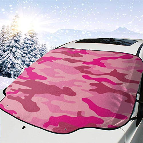 Ice Removal Wiper Visor Protector Car Windshield Snow Cover Premium Pink Camouflage Pattern Windshield Sun Shade Windshield Snow Ice Cover Fits Most Car Suv Truck Van Protect Against Sun Snow Ice