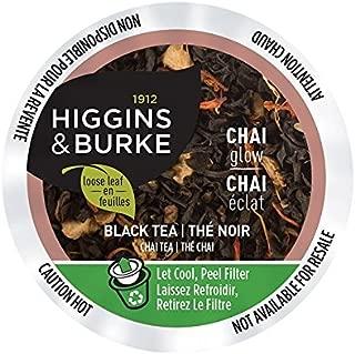 Higgins & Burke Single Serve Tea Capsules, Chai Glow Loose Leaf Tea, 24 Count, Premium Authentic Herbal Tea with Natural Blend