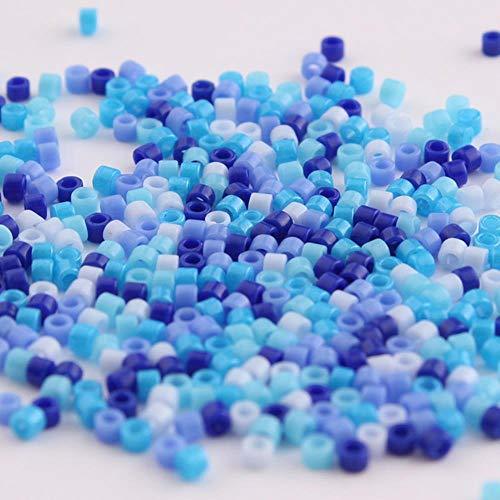 Taidian 5 gramos 11/0 mezcla de cuentas verdes de cristal de Japón Delica cuentas para joyería g DIY 1,6x1,3mm cuentas espaciadoras Perles-DB Multi 8