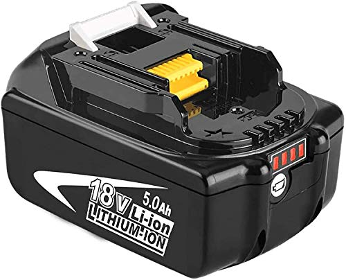 BL1850B 18V 5,0Ah Packs de batterie remplacement pour Makita BL1850B BL1850 BL1840 BL1830 BL1820 BL1815 BL1825 BL1835 BL1845 194204-5 196673-6 LXT-400