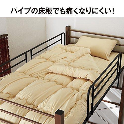 『ニッセン 長さ選べるベッド専用マット / サイズ【敷マットのみ・セミダブル】 / 色【ブルー】』の3枚目の画像