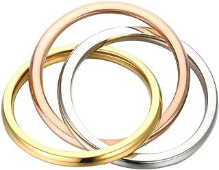 Anneau magn/étique r/églable en cuivre /à deux tons pour femmes hommes (CPR-0948)