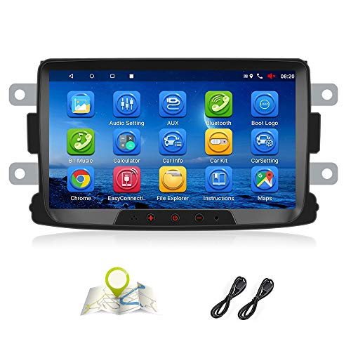 Android 7.1 Autoradio für Renault Dacia GPS Navigation CAMECHO 8 Zoll Kapazitiver Touchscreen Auto Stereo Player WiFi Bluetooth FM Empfänger Dual USB für Sandero Duster Logan Dokker