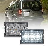 Luz LED para placa de matrícula para Land-Ro/ver Discovery 3 LR3 Discovery 4 LR4 L319 Freelander 2 LR2 L359 Rang Rover Sport L320 2 piezas de lámparas blancas