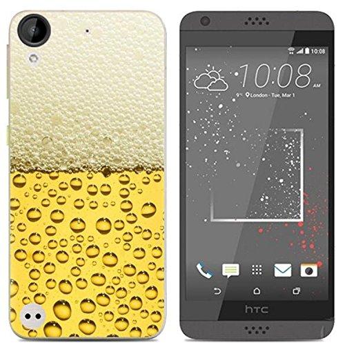 Yrlehoo Für HTC Desire 650, Premium softe Silikon Schutzhülle für HTC Desire 650 Tasche Hülle Cover Hülle Etui Schutz Protect, Bier
