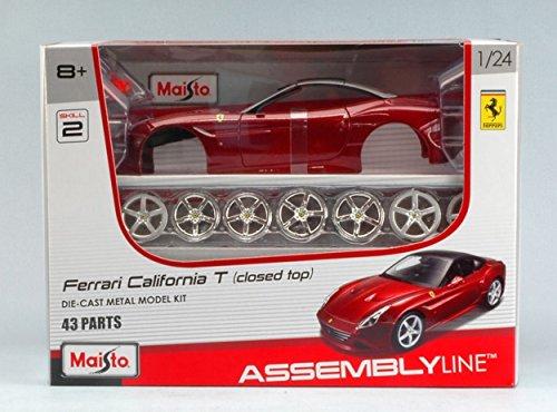Maisto Kit DE Montaje Compatible con Ferrari California T (Closed Top) 2014 Amarant Kit 1:24 MI39130