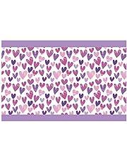 I-love-Wandtattoo Cenefa Autoadhesivo corazón de púrpura Niñas Habitación Arte de la Pared pegati
