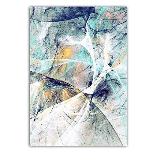 XWArtpic Nordic Poster Blau Rot Abstrakte Kunst Graffiti Malerei Bunte Wolke Ölgemälde Wandbild Für Wohnzimmer Wohnkultur 90 * 120 cm