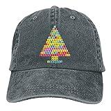 QNCNWI Árbol de Navidad periódico árbol de Chemis árbol retro ajustable vaquero sombrero unisex Hip Hop negro gorra de béisbol