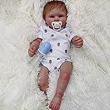 """Realista de 22"""" 58 cm de Vinilo bebé bebé Reborn bebé de Silicona Suave muñeca Hecha a Mano muñeca con Ropa de Verdad, magnética Boca de la muñeca, Adecuado para Regalo de Juguete de 3 años o más"""
