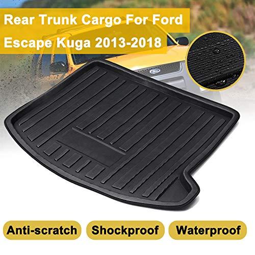 MATBC Cargo Floor Tray Teppich Schlamm Kofferraum Kofferraummatte Liner Shock Waterproof, Für Ford Escape Kuga 2013 2018