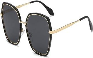 """""""N/A"""" - Gafas De Sol Polarizadas Grises Negras Gafas De Metal Cuadradas Al Aire Libre A Prueba De Rayos Ultravioleta Individuales De Moda para Mujer"""