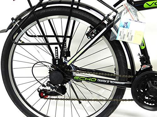 KRON 26 Zoll Fahrrad Herrenrad Jungenfahrrad City Bike 21 Gang Shimano Schwarz Grün neu - 4
