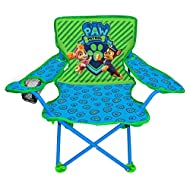 Jakks Pacific Paw Patrol Neutral Camp Chair for Kids, Portable Camping Fold N Go Chair with Carry Bag