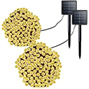 Solar String Lights, Colohas 2-Pack Waterproof 72ft 200 LED Bright Solar Decorative Romantic Powered Starry Fairy Lights,Ambiance Lights for Outdoor,Indoor,Garden, Home, Christmas Party, Wedding,Xmas Tree decoration