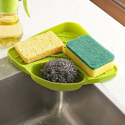 Spiderjuice Creative Useful Multipurpose Must Have Corner Sink Wash Basin Storage Organizer Rack ,Pack Of 1, Random Color