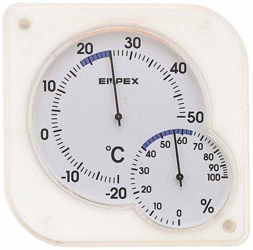 エンペックス気象計 EMPEX シュクレ ミディ ホワイト TM-5601