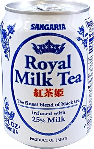 Sangaria Royal Milk Tea, 8.96 Fluid Ounce (Pack of 24)