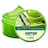 OHQ Aloe Vera Gel LocióN Hidratante Crema Facial Perfectamente Liso para India Cuidado De La Piel 180ML/300ML (300ML, Verde)