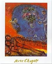 Buyartforless Couple of Lovers by Marc Chagall 31x24 Art Print Poster Romantic Bird Bouquet