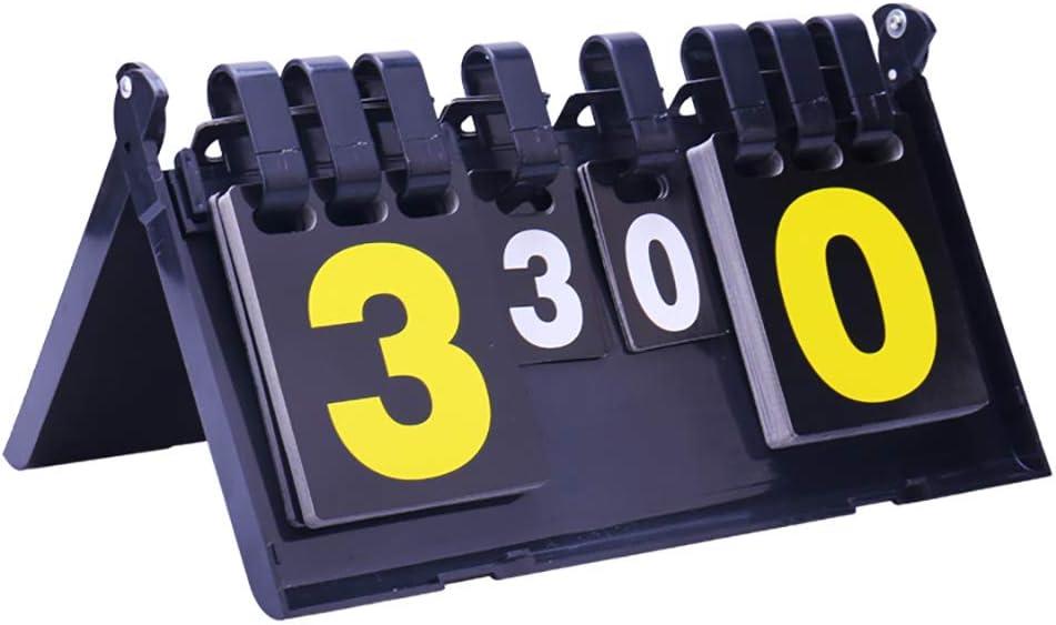 N\A Flip Scoreboard Score Keeper, Portable Multifunction Score Flipper para fútbol, fútbol, Tenis, Voleibol, Ping-Pong y bádminton Juegos de Competencia