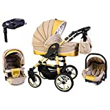 Tabbi ECO X GOLD | 4 in 1 Kombi Kinderwagen Hartgummi Beige