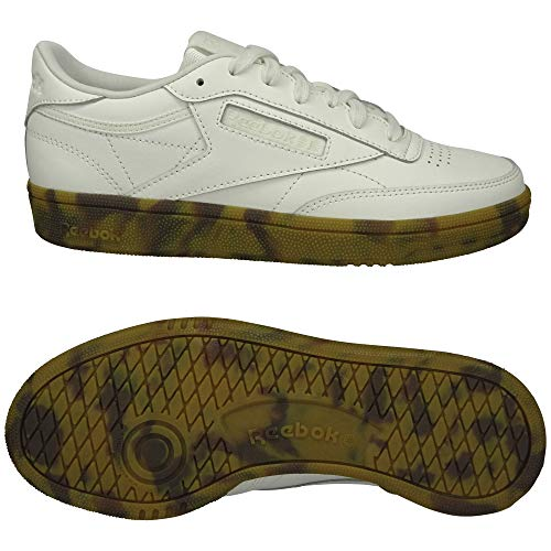 Reebok Womens Club C 85 Tennis Shoe, Chalk, 40.5 EU