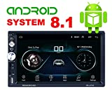 X-Reako - Radio 2 DIN Andorid 8.1 Bluetooth Car Stereo 7 pollici 1080HD Touch Screen capacitivo GPS di navigazione Auto Radio Am, Mirror Link, Wi-Fi, 1 GB RAM 16 GB ROM