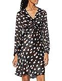 Marca Amazon - find. Vestido Midi Cruzado de Satén Mujer, Multicolor (Multicoloured), 40, Label: M