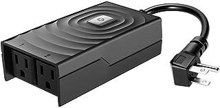 Smart Scheduling Outdoor Plug,IP44 Waterproof,Voice Control,Compatible with Alexa/Google Assistant/IFTTT,No Hub Required,G...
