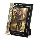 Maverton Cornice Foto - Nera in Legno - Porta Foto da Personalizzare con Incisione - Portafoto da Tavolo - 27,5 x 21,5 cm - idee regalo per anniversario, matrimonio - Albero