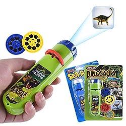 3. Wenosda Dinosaur Slide Projector Flashlight