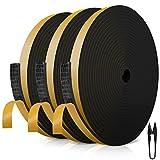 RATEL Tira de Sellado Junta 12 mm (W) * 3 mm (H) * 18 m (L) con Tijeras * 1, Tiras de Sellado...