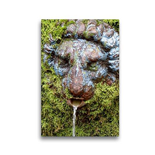 CALVENDO Premium Textil-Leinwand 30 x 45 cm Hoch-Format Brunnenfigur in Darmstadt - Eberstadt, Leinwanddruck von Ilona Andersen