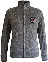 Elite Fan Shop South Carolina Gamecocks Women's Slim Full Zip Jacket Captain Charcoal