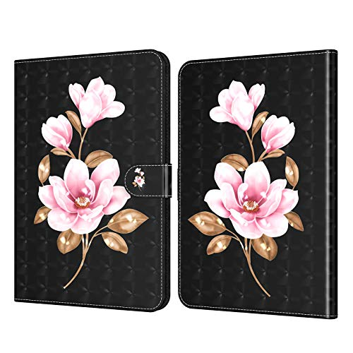 C/N DodoBuy - Funda para tablet Lenovo Tab M8 HD de 8 pulgadas, 3D Flip Folio Folio de piel sintética con ranuras para tarjetas, función atril, cierre magnético, diseño de flores
