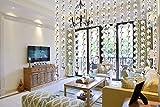 10 x 1M Türvorhang Kristall Girland Crystal Clear Acrylic Bead Garland hängende Partei Dekor Hochzeit DIY Dekor Anhänger Perlenvorhang (mit Kegel Anhänger)