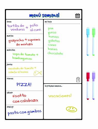 Smart Panda Calendario Magnético para Nevera - Ideal Planificador de