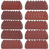 Triangoli Abrasivi, 80 Pezzi Carta Vetrata con 5 Fori per Mouse Levigatrice Smerigliatura Fogli Abrasivi, Allumina Grana 40/60/80/100/120/180/240/320/400/800