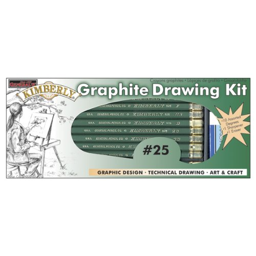 General Pencil Kimberly Graphite Drawing Kit-12 Pieces