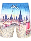 Photo de Tokyo Laundry Hommes Multi Floral Short de Natation imprimé - Zeki - Plage/Chaise Longue, Medium