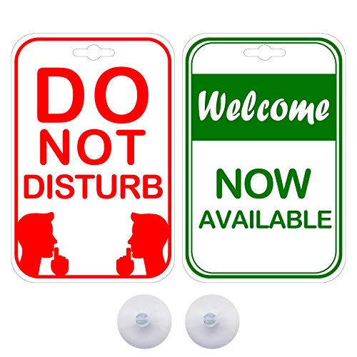 Do Not Disturb Now Available Privacy Double Sided Sign for The Office Cubicle Desk or Personal Room (2Pack)