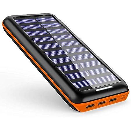 【値下げ】SDKCRSOLAR 24000mah大容量ソーラーチャージャー モバイルバッテリー 1,499円送料無料!【5/31まで】