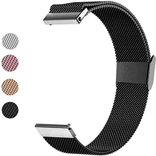 Mediatech Ersatzarmband für Samsung Galaxy Watch 42mm/Galaxy Watch Active/Gear Sport Armband, 20mm Mesh Edelstahl-Uhrenarmband Metall Schnellverschluss Wechselarmband für Garmin Vivoactive 3/3 Music