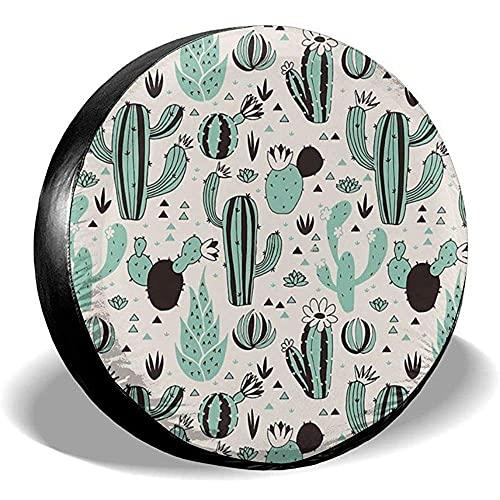 Hokdny Cacti Cubierta De Neumático De Repuesto Poliéster Cubiertas De Rueda Impermeables Universales A Prueba De Polvo para Remolques, Camiones Y Muchos Vehículos