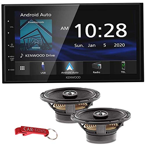 Kenwood DMX4707S 8.6' Multimedia Receiver Music Lover's Bundle w/ Focal Access 165CA1 SG Premium Coaxial Speakers. Apple CarPlay, Android Auto Car Stereo, Capacitive Display, Bluetooth, SiriusXM Ready