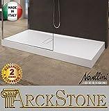 Receveur de douche soutien sol Novellini Custom Blanc Premium épaisseur hauteur 12cm Bonde colonne vidage incluse surélevé stable résistant profil renfort métal plaque acrylique résine Panneau Zone